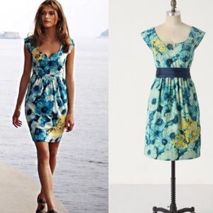 Anthropologie Floreat dress poppies floral knotted